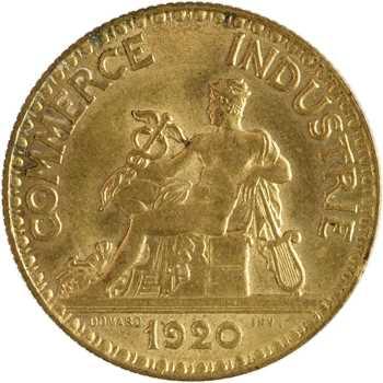 IIIe République, 2 francs Chambres de commerce, 1920 Paris