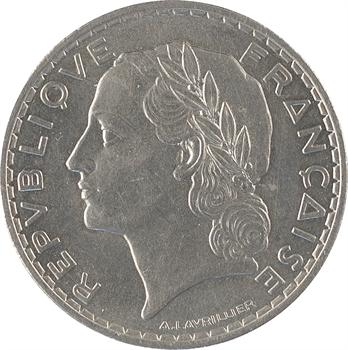 IIIe République, essai de 5 francs par Lavrillier, sans différents, 1933 Paris