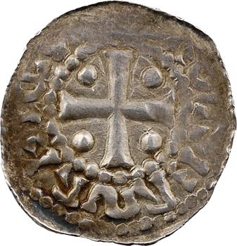 Metz (évêché de), Thierry II et Henri II de Germanie, denier au temple, s.d. (1006-1014)