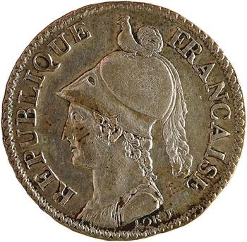 Consulat, essai du 2 décimes de Lorthior, An 8 (1799-1800) Paris