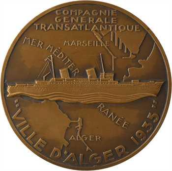Algérie, paquebot Ville d'Alger, par R. Delamarre, 1935 Paris