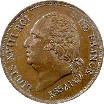 Louis XVIII, essai de cinq centimes, s.d. (1821) Paris