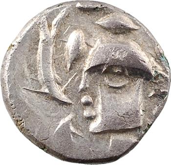 Volques Tectosages, drachme à la tête cubiste (cantonnement varié), c.121-52 av. J.-C
