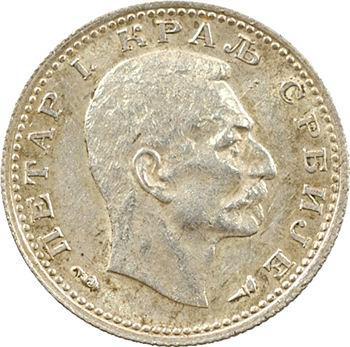 Yougoslavie, Serbie (royaume de), Pierre Ier, 50 para, frappe monnaie, 1915 Paris