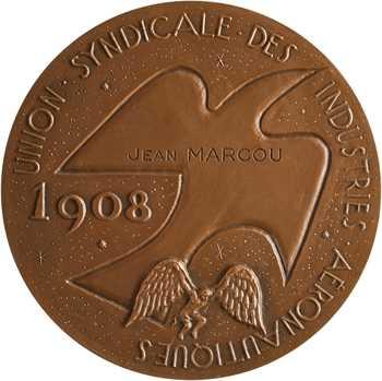 Aéronautique, l'Union Syndicale des Industries Aéronautiques à Jean Marcou, par Joly, 1908/1958 Paris