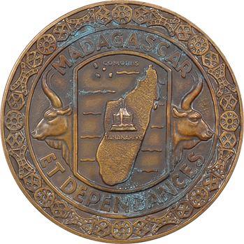 Madagascar et dépendances, médaille de R. B. Baron, s.d. (1954) Paris