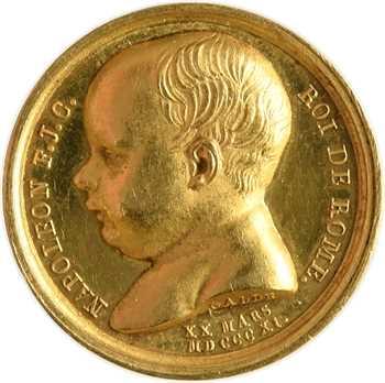 Premier Empire, la naissance du Roi de Rome, en or, 1811 Paris