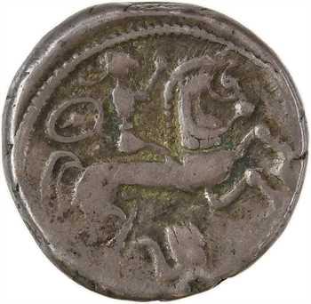 Bituriges Cubes, drachme au cavalier et au bouclier, classe II, c.150-100 av. J.-C