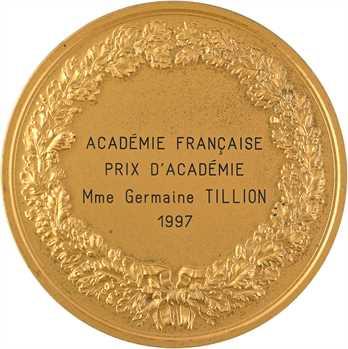 Ve République, prix de l'Académie Française à Germaine Tillion, 1997 Paris