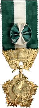 France, IVe République, médaille d'honneur des Collectivités Locales, en or