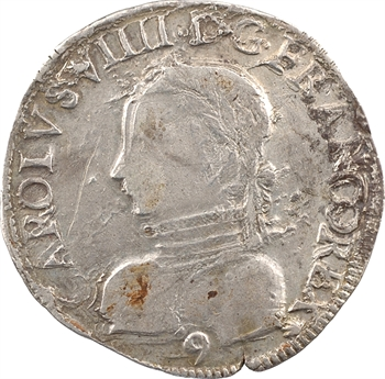 Charles IX, teston 2e type, 1563 Rennes
