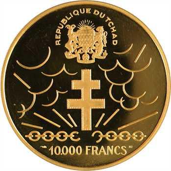 Tchad, 10.000 francs or De Gaulle, 1960 (1970) Paris PROOF