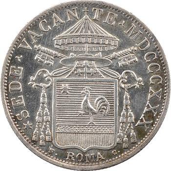 Vatican, siège vacant (cardinal Galeffi), 30 baiocchi, 1830 Rome