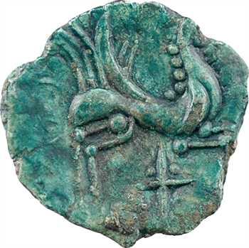 Carnutes, bronze au cheval ailé et à la croix, c.60-50 av. J.-C.