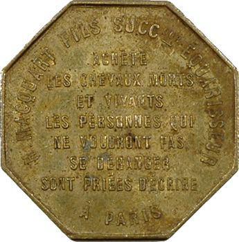 Macquart (Désiré), équarisseur à Paris, jeton publicitaire, s.d. Paris