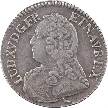 Louis XV, cinquième d'écu aux rameaux d'olivier, 1732 Bourges