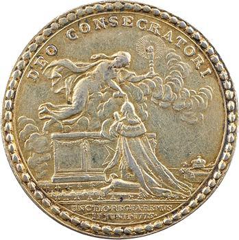 Louis XVI, jeton du sacre du Roi à Reims, 1775 Paris