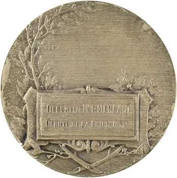 IIIe République, Loire-Inférieure, médaille du député Merlant, par Mattéi, s.d