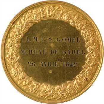 Louis-Philippe Ier, mariage de M. Gomel, par Pingret, en OR, 1842 Paris