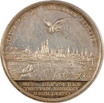 Allemagne, Prusse, Frédéric-Guillaume II, reprise de Mayence occupée par les Français, 1793 Berlin