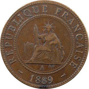 Indochine, 1 centième, 1889 Paris