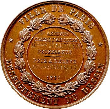 Second Empire, Ville de Paris, prix de dessin, 1867