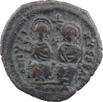 Justin II et Sophie, follis, Cyzique, 2e officine, An VI = 570-571
