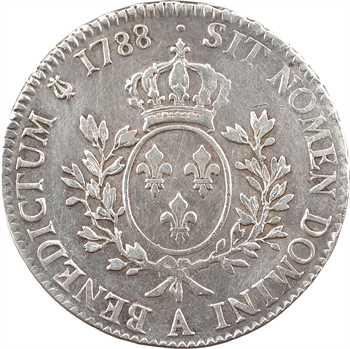 Louis XVI, écu aux branches d'olivier, 1788, 2d semestre, Paris