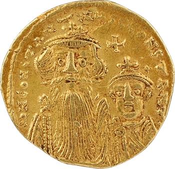 Constant II et Constantin IV, solidus, Constantinople, 3e officine, 654-659