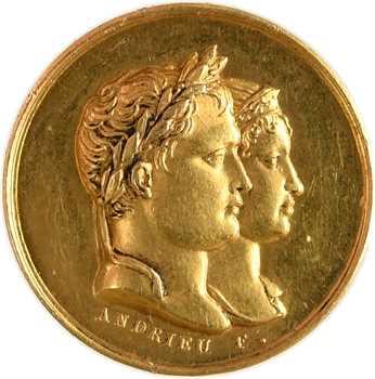 Premier Empire, médaille en or du mariage de Napoléon et Marie-Louise, 1810/1801 (post.) Paris