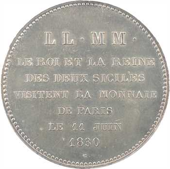 Charles X, Roi et Reine des Deux-Siciles, visite de la Monnaie de Paris, 1830 Paris, PCGS SP61