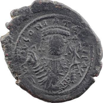 Tibère II Constantin, follis, Nicomédie, 2e officine, An 6 = 580-581