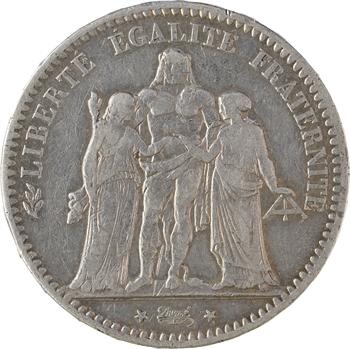 IVe République, 5 francs Hercule transformée en médaille de mariage, 1946