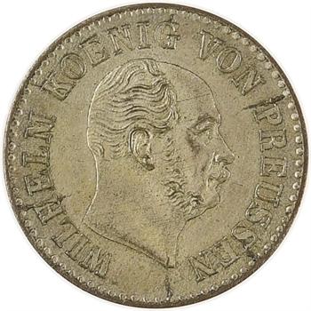Allemagne, Prusse (royaume de), Guillaume Ier, 1/2 gros d'argent, 1864 Berlin