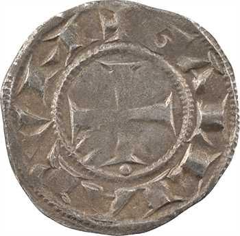 Lyon (archevêché de), anonymes, denier (besant sous la croix), c.1200-1260