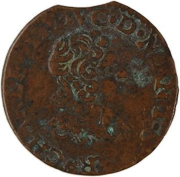 Ardennes, Charleville (principauté de), Charles II de Gonzague, double tournois 24e type, 1642 Charleville