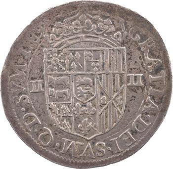Béarn (seigneurie de), Henri II (III de Navarre), quart d'écu, 1589 Pau