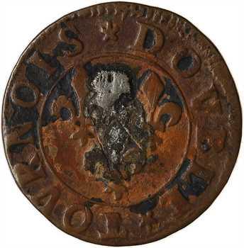 Ardennes, Château-Regnault (principauté de), François de Bourbon, double tournois 14e type, s.d. Château-Regnault
