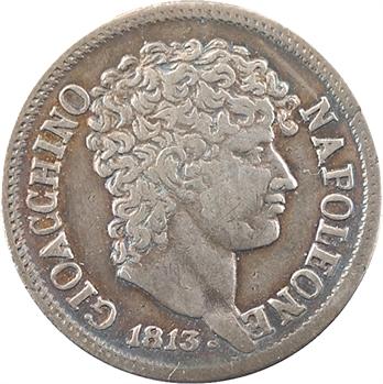 Italie, Naples et Deux-Siciles (royaume de), Murat, demi-lire 1813 Naples