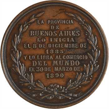 Argentine, inauguration du port à la Plata, 1890