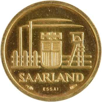 Allemagne, Sarre, essai de 10 francs, 1954 Paris
