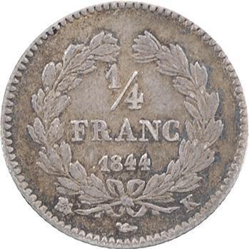 Louis-Philippe Ier, 1/4 franc, 1844 Bordeaux