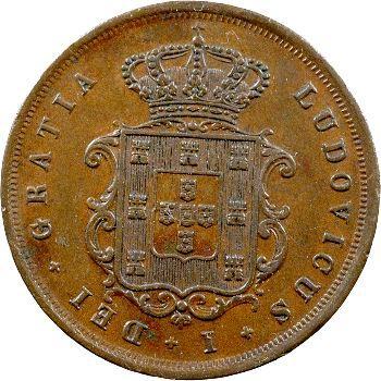 Portugal, Louis Ier, X réis, 1871 Lisbonne