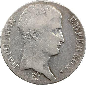 Premier Empire, 5 francs tête nue, calendrier grégorien, 1806 Bayonne