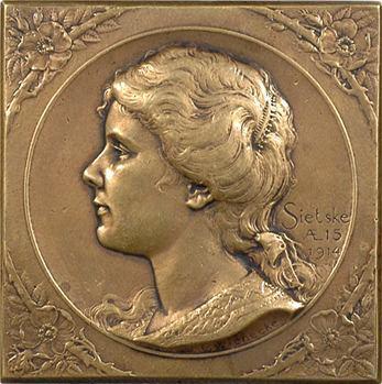 Pays Bas, Sietske à 15 ans, par J. C. Wienecke, 1914