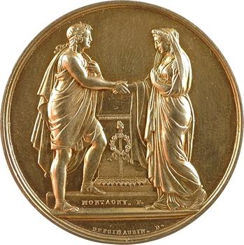 Louis-Philippe Ier, médaille de mariage, par Montagny, 1846 Paris