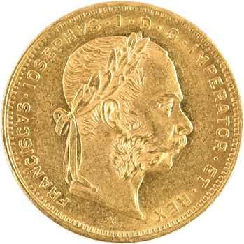 Autriche, François-Joseph Ier, 8 florins ou 20 francs, 1882 Vienne
