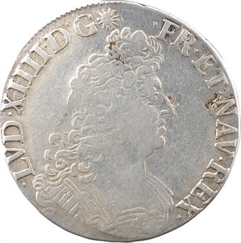 Louis XIV, demi-écu aux huit L, 2e type, 1704 Tours