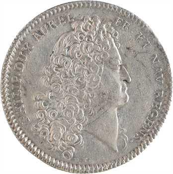 Louis XV, la régence de Philippe d'Orléans, par Roettiers et Duvivier, s.d. (1715) Paris