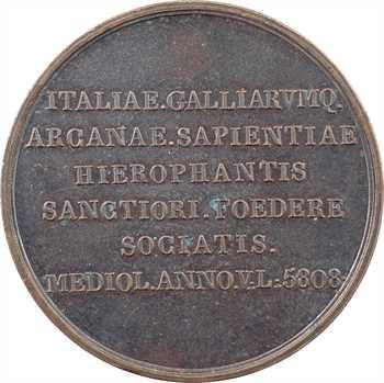 Italie, Milan, Union des francs-maçons de France et d'Italie, 5808 (1808) Paris ?